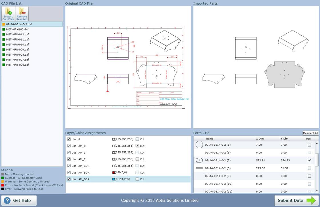 CAD-Importprogramm von CutQuote